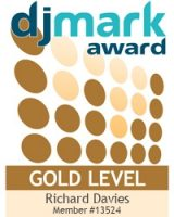 Richard Davies at Rikki's Mobile Disco is currently a GOLD DJmark Award Holder.